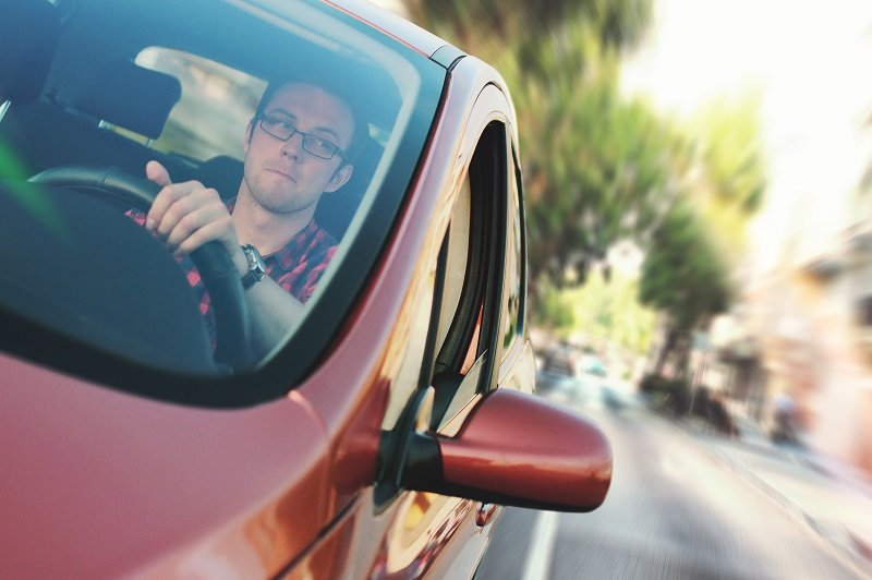 Kierowca podczas kursu